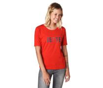 T-Shirt, -Schriftzug, Strass, Umschlag-Ärmel, Nieten