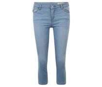 Jeans, Skinny Fit, 7/8-Länge, Kontrast-Nähte