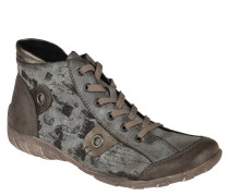 Sneaker, Reißverschluss, Print, herausnehmbare Sohle