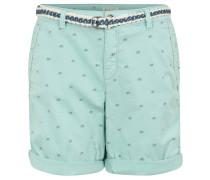 Shorts, Baumwoll-Stretch, Gürtel, Allover-Print