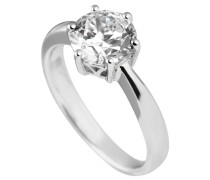 Ring, Sterling  925, -Zirkonia, 2,0 ct