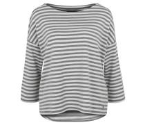 Shirt, 7/8-Arm, gestreift, überschnittene Schulter, Oversized