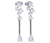 Pendel-Ohrringe  mit weißen -Zirkonia und Krappen-Fassung 6220031082