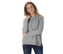 Pullover, Strick, Ripp-Abschlüsse, seitliche Reißverschlüsse
