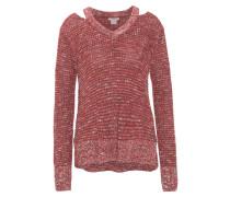 Pullover, Cold-Shoulder, Strick, V-Ausschnitt