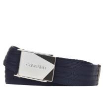 Gürtel, gewebt, Metallschnalle, Logo-Gravur