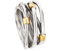 Ring Silber mit Gold 585