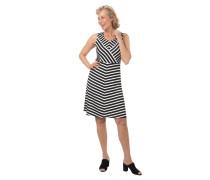 Jerseykleid, Streifen-Mix, ärmellos