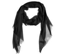Schal, glänzendes Material, Fransen, transparent