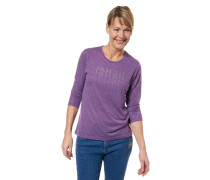 Shirt, 3/4-Arm, gestreift, Strass-Besatz