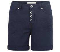 Shorts, Leibhöhe, offen gelegte Knopfleiste, Blau