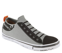 Slip-Ons, Sneaker-Optik, Schnürsenkel-Print