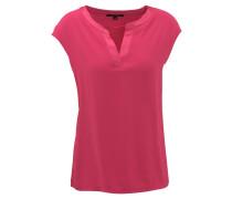 T-Shirt, Split-Neck, überschnittene Schulter, uni