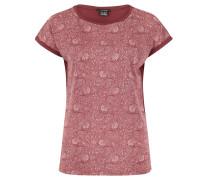 T-Shirt, Jersey, Paisley-Print, Umschlag an Saum