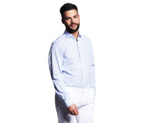 Businesshemd, Slim Fit, Mao-Kragen, Leinen-Anteil