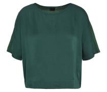 Blusenshirt, cropped, unifarben, angeschnittene Ärmel