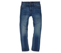 Jeans, verwaschene Optik, Knitterfalten, elastisch