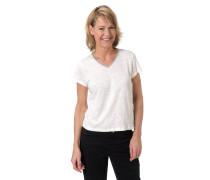 T-Shirt, Flammgarn, Glitzer-Detail, Marken-Anhänger