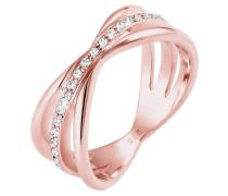 Ring Wickelring Blogger Swarovski® Kristalle 925 Silber