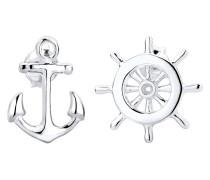 Ohrringe Anker Steuerrad Maritim Sailor Filigran 925