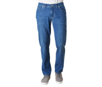 "Jeans ""Cadiz"", Straight Fit, Stretch, Kontrastnähte, leicht"