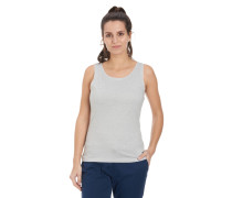 Tank-Top, gestreift, Materialmix