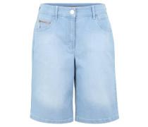 "Jeans-Shorts ""Tina"", Baumwoll-Anteil, Emblem, unifarben"