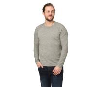 Pullover, Inside-Out-Nähte, Melange, Baumwolle