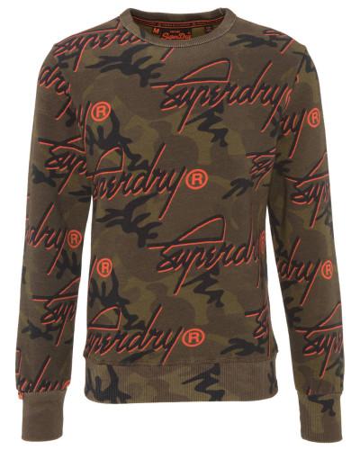 Sweatshirt, Camouflage, Logo-Print