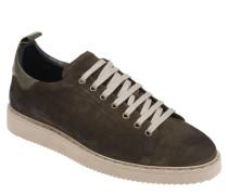 Sneaker, Veloursleder, atmungsaktiv, Schnürung