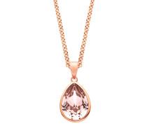 Halskette mit Swarovski® Kristall und rosévergoldet