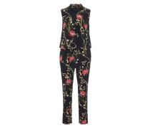 Jumpsuit, floraler Print, Spitze, Eingrifftaschen