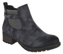 Chelsea Boots, Kunstleder, Blockabsatz, Zier-Riemen