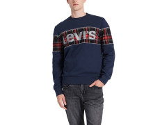 Sweatshirt, Baumwoll-Mix, Logo