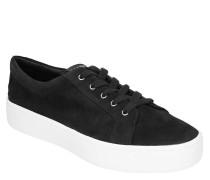Sneaker, Plateau-Sohle, Veloursleder, Schnürung