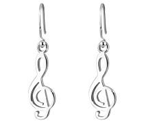 Ohrringe Notenschlüssel Musik Filigran 925