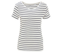 T-Shirt, gestreift, Zierknöpfe