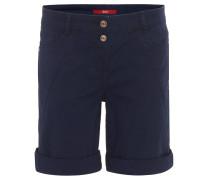 Shorts, uni, krempelbarer Saum, Zier-Naht
