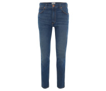 Jeans, Regular Fit, gerader Schnitt, Stretch-Anteil