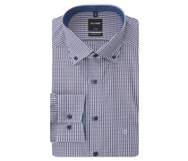 "Businesshemd ""Luxor"", Modern Fit, kariert, Button-Down-Kragen"