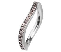EDvita Ring, Edelstahl, Zirkonia R315.BR