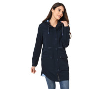 Mantel, wasserabweisend, Fleece-Futter, Taillen-Kordelzug
