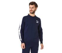 Sweatshirt, Logo-Print, Rippbund