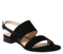 Sandalette, Veloursleder, Lack-Details