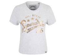 T-Shirt, Metallic-Print, Rundhalsausschnitt