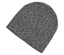 Mütze, Feinstrick, Logo-Print