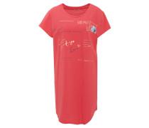Nachthemd, Kurzarm, Metallic-Print, Baumwolle
