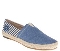 Espadrilles, leichter Stoff, maritimer Look, Blau