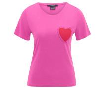 T-Shirt, Herz-Patch, Rundhalsausschnitt