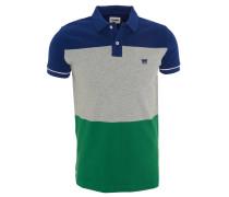 Poloshirt, Blockstreifen, Baumwolle, Knopfleiste